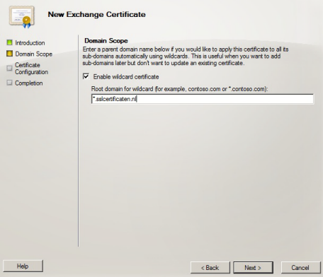 Exchange 2010 - CSR erstellen